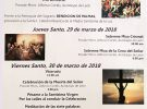 Programa de Semana Santa en Catedral